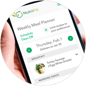 2. Use the Weekly Meal Planner to design and order your meal plan for the upcoming week